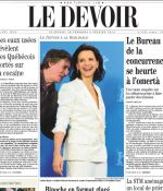 Le Devoir (Canada) Cover Page