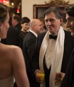 Flora Montgomery, Gabriel Byrne, and Colin Morgan