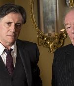 Gabriel Byrne as Quirke and Michael Gambon as Judge Garret Griffin