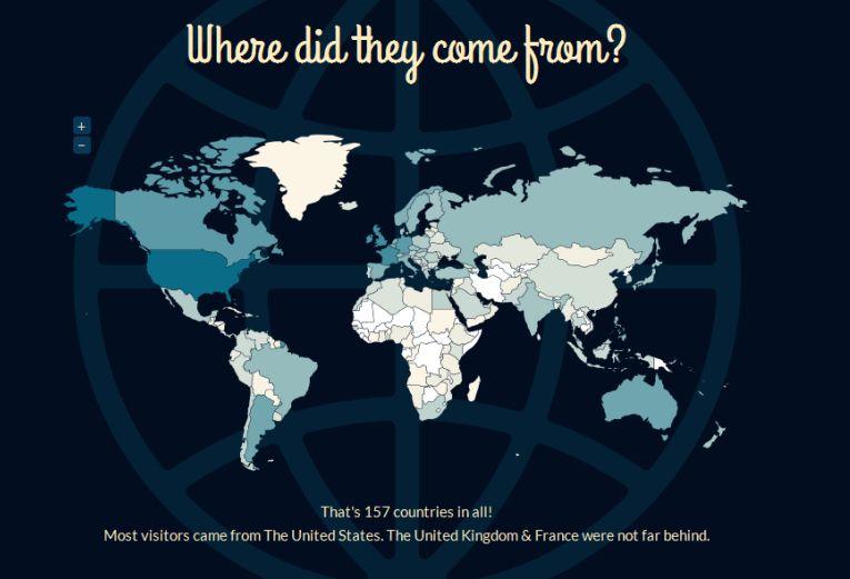 Jetpack World Visitors Stats 2013