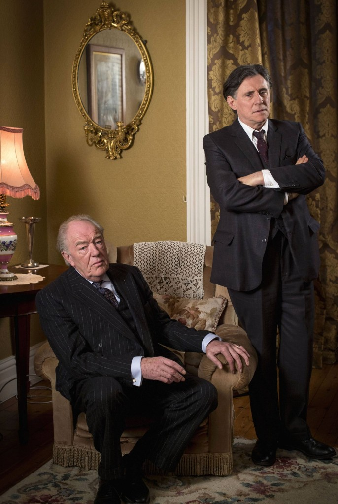Sir Michael Gambon as Judge Garrett Griffin and Gabriel Byrne as Quirke