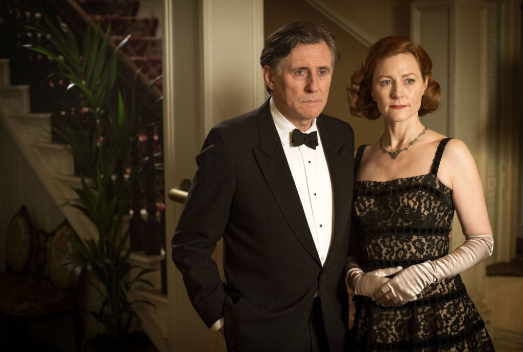 Gabriel Byrne as Quirke with Geraldine Somerville as Sarah Griffin