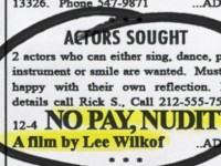 "New Film: ""No Pay, Nudity"""