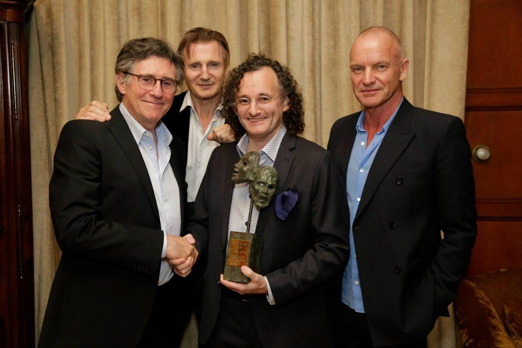 Gabriel Byrne, Liam Neeson, Martin Hayes, and Sting