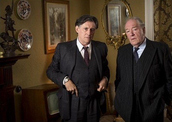 Gabriel Byrne as Quirke and Sir Michael Gambon as Judge Garrett Griffin