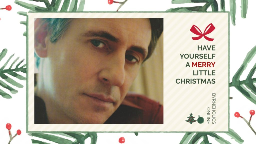 Official Byrneholics Christmas 2018 Gabriel Byrne Holiday Wallpaper