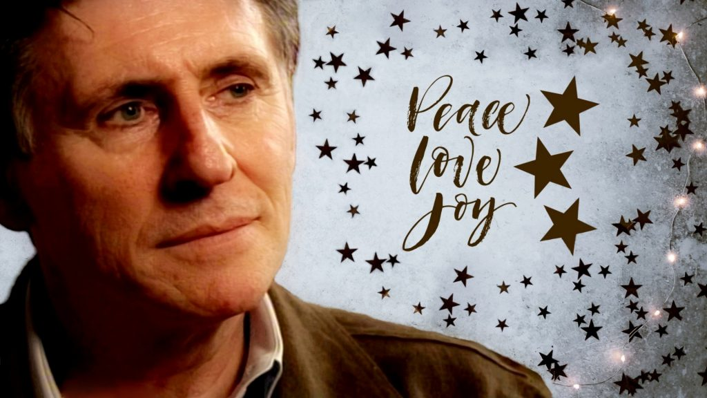 Peace Love Joy Gabriel Byrne Holiday Wallpaper