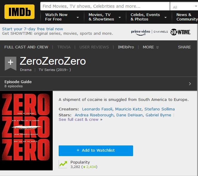 ZeroZeroZero Premiere! – Byrneholics Online