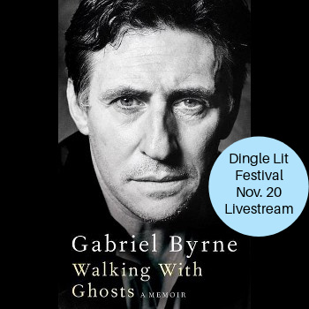 Gabriel talking with Mia Colleran about his new book at Dingle Lit